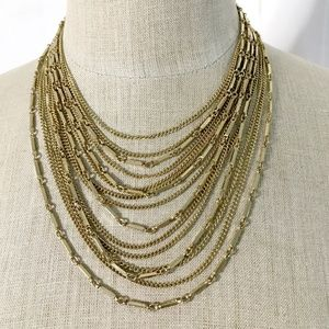 15 Multi-Strand Gold Chain Necklace by Cathe